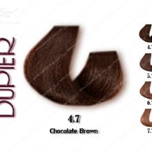 رنگ موی دوپیر شکلاتی قهوه ای شماره 4.7