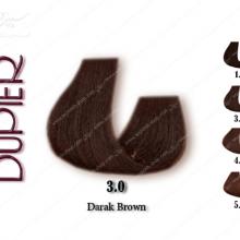 رنگ مو دوپیر قهوه ای طبیعی تیره 3.0