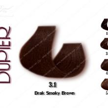 رنگ موی دوپیر قهوه ای دودی تیره شماره 3.1