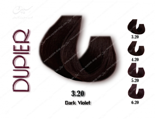 رنگ موی دوپیر شرابی تیره شماره 3.20