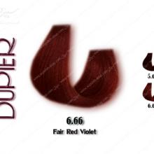 رنگ مو دوپیر شرابی قرمز آتشین شماره 6.66