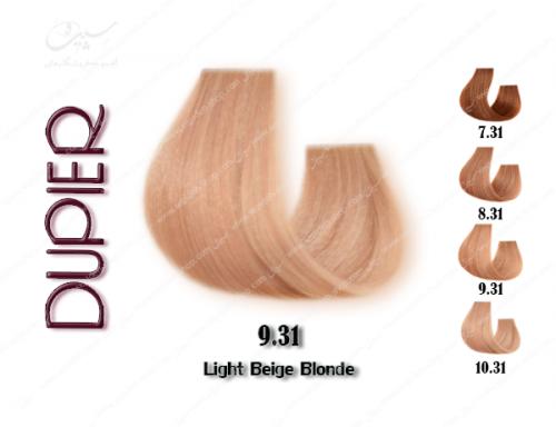 رنگ موی دوپیر بژ روشن شماره 9.31
