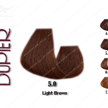 رنگ مو دوپیر قهوه ای طبیعی روشن 5.0