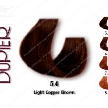 رنگ موی دوپیر قهوه ای مسی روشن شماره 5.4