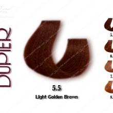رنگ موی دوپیر قهوه ای طلایی روشن شماره 5.5