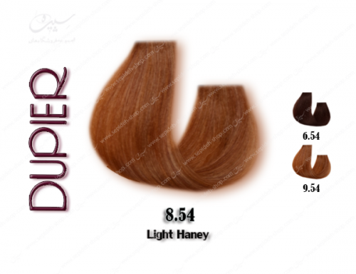 رنگ مو دوپیر عسلی روشن شماره 8.54