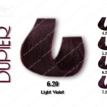 رنگ موی دوپیر شرابی روشن شماره 6.20