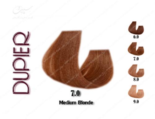 رنگ مو دوپیر قهوه ای متوسط 7.0
