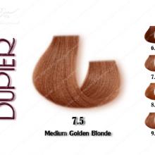 رنگ موی دوپیر ب.ل.و.ن.د طلایی متوسط شماره 7.5