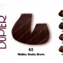 رنگ موی دوپیر قهوه ای دودی متوسط شماره 4.1