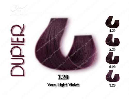 رنگ موی دوپیر شرابی خیلی روشن شماره 7.20