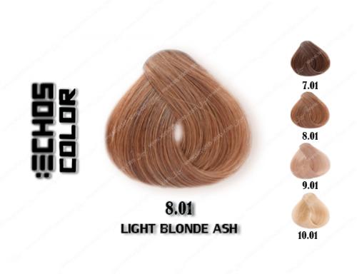 رنگ مو اچ اس لاین خاکستری طبیعی روشن 8.01