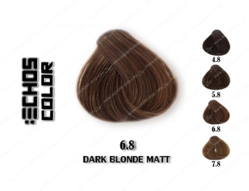رنگ مو اچ اس لاین زیتونی تیره 6.8