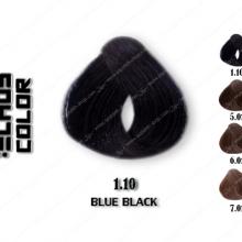 رنگ مو اچ اس لاین مشکی آبی 1.10
