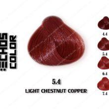رنگ مو اچ اس لاین بلوطی مسی روشن 5.4