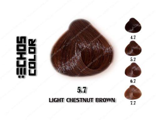 رنگ مو اچ اس لاین بلوطی قهوه ای روشن 5.7