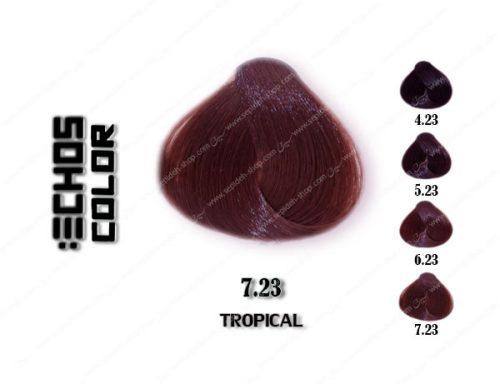 رنگ مو اچ اس لاین قهوه ای گرمسیری 7.23