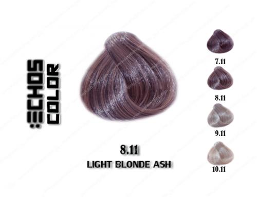 رنگ مو اچ اس لاین خاکستری روشن 8.11