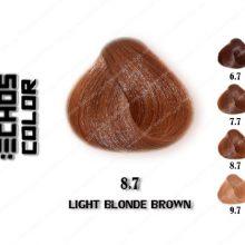 رنگ مو اچ اس لاین بلوند قهوه ای روشن 8.7
