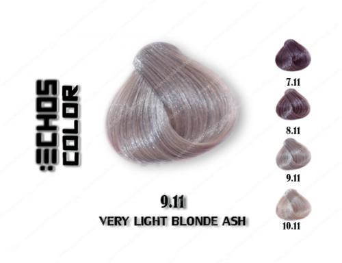 رنگ مو اچ اس لاین خاکستری خیلی روشن 9.11
