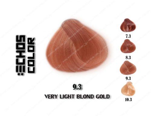 رنگ مو اچ اس لاین طلایی خیلی روشن 9.3