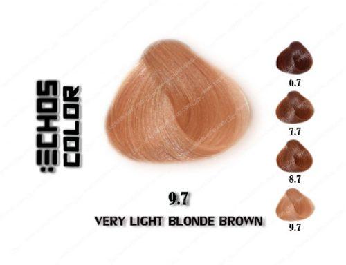 رنگ مو اچ اس لاین بلوند قهوه خیلی روشن 9.7