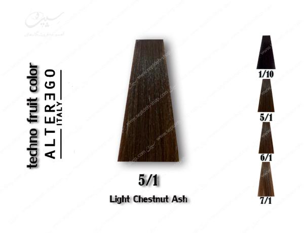 رنگ مو تکنو خاکستری بلوطی روشن 5.1