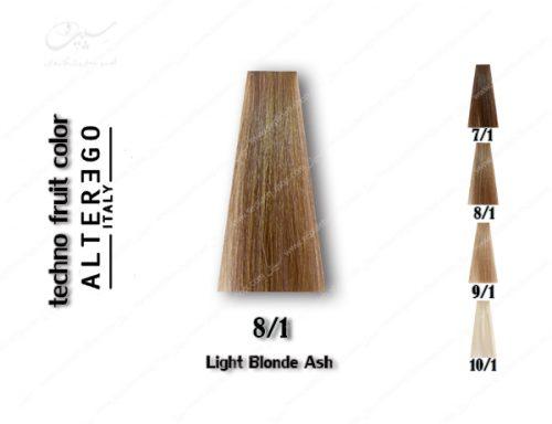 رنگ مو تکنو بلوند خاکستری روشن 8.1