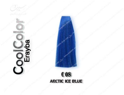 رنگ ژله ای فانتزی آبی یخی C08 ارایبا