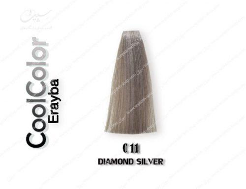 رنگ ژله ای فانتزی نقره ای الماسی C11 ارایبا