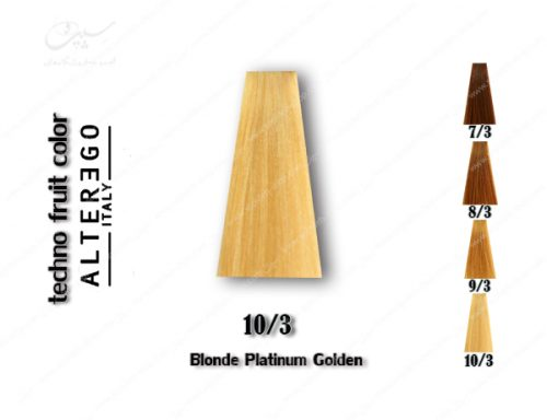 رنگ مو تکنو بلوند پلاتینی طلایی 10.3