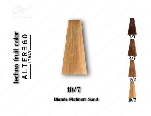 رنگ مو تکنو بلوند پلاتینی شنی 10.7