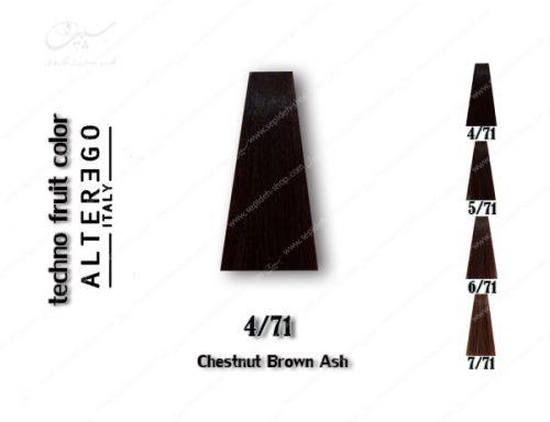 رنگ رنگ مو تکنو قهوه ای خاکستری 4.71 مو تکنو قهوه ای خاکستری 4.71