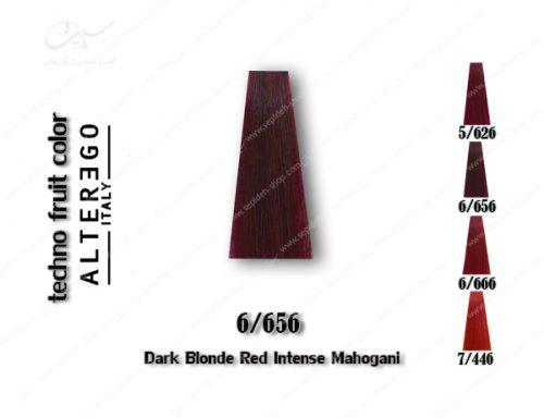 رنگ مو تکنو بلوند ماهگونی قرمز تیره 6.656