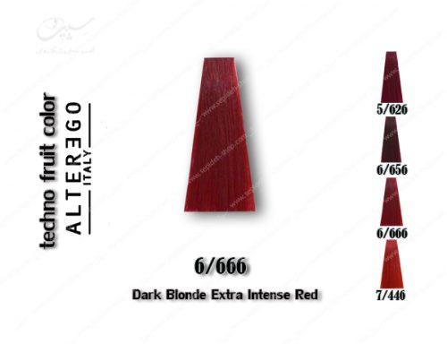 رنگ مو تکنو بلوند فوق العاده شدید قرمز 6.666