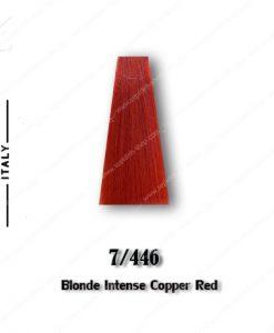 رنگ مو تکنو بلوند مسی قرمز شدید 7.446