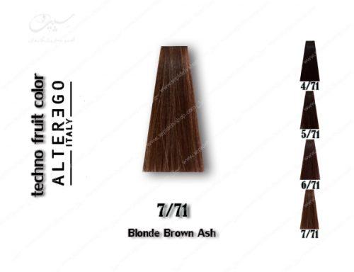 رنگ مو تکنو بلوند قهوه ای خاکستری 7.71