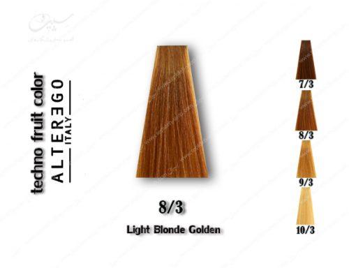 رنگ مو تکنو بلوند طلایی روشن 8.3