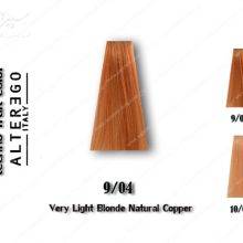 رنگ مو تکنو بلوند مسی طبیعی خیلی روشن 9.04