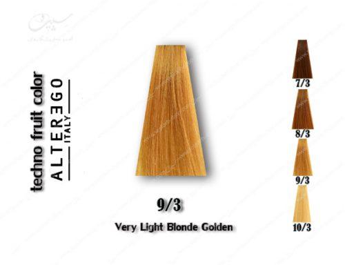 رنگ مو تکنو بلوند طلایی خیلی روشن 9.3