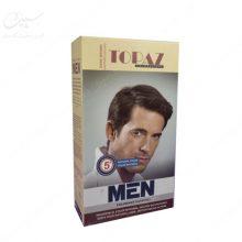رنگ موی مردانه قهوه ای تیره توپاز