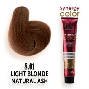 رنگ مو فاقد آمونیاک بلوند دودی طبیعی روشن 8.01 اچ اس لاین