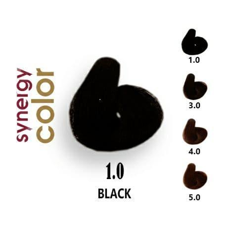 رنگ مو فاقد آمونیاک مشکی سینرژی 1.0 اچ اس لاین