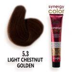 رنگ مو فاقد آمونیاک قهوه ای طلایی روشن سینرژی 5.3 اچ اس لاین