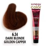 رنگ مو فاقد آمونیاک مسی طلایی تیره سینرژی